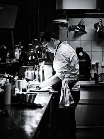 Men Working One Person Vegetarian Food Inspiration Working Busy Service Food Adam Toren Kitchen Serving Food And Drinks Adam Lookout Chef At Work Cheflife Food And Drink Black & White Photography Chef Cheff Madam Restaurant David Baxter One Man Only