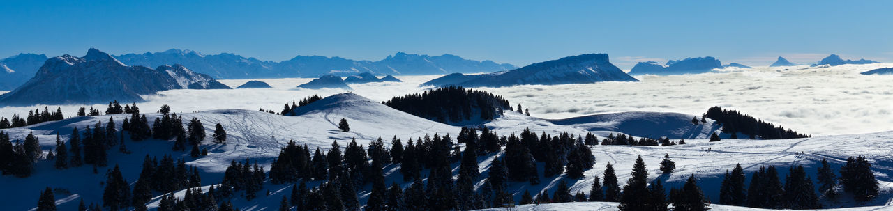 Snow Mountain Mountain Range Cold Temperature Scenics Nature Outdoors No People Sky Beauty In Nature Day Landscape Winter Tree Hikking Haute-Savoie  France