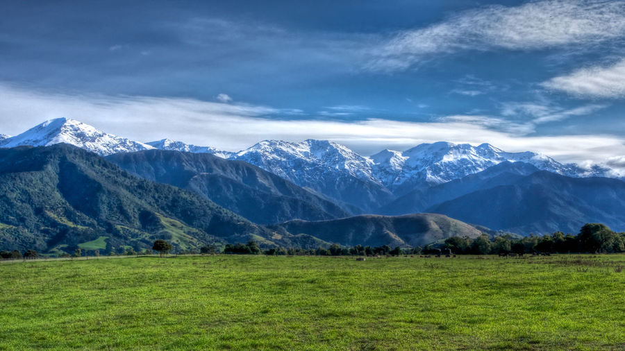 Kaikoura Ranges New Zealand Landscape Beauty In Nature Cold Temperature Day Grass Landscape Mountain Mountain Range Nature No People Outdoors Range Scenics Sky Snow Snowcapped Mountain Tranquil Scene Tranquility Travel Destinations Winter EyeEmNewHere