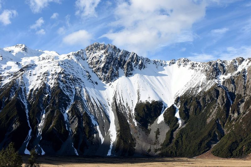 Mount Wakefield Mountain Snow Mountain Range Tranquil Scene New Zealand New Zealand Scenery Lost In The Landscape