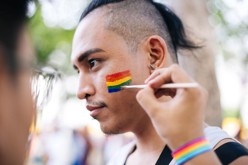 Preparation before the Metro Manila Pride in Luneta Rizal Park in Manila, Philippines on Saturday 25 June 2016. Eyeem Philippines Facepaint Let Love In Letlovein Lgbt LGBT Parade Lgbt Pride LGBT Rainbows Lgbtq Loveislove Lovewins Luneta Park Manilapride2016 Metromanilapride Photojournalism Pride March Pride Parade Pride2016 RizalPark Natural Light Portrait Showcase June EyeEm Diversity Resist The Photojournalist - 2017 EyeEm Awards The Portraitist - 2017 EyeEm Awards This Is Queer Inner Power Focus On The Story This Is My Skin The Troublemakers Love Is Love