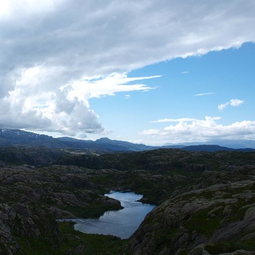 driving over the Mountains From Rødal to Sauda in Nordic Light Clouds And Sky Taking Photos