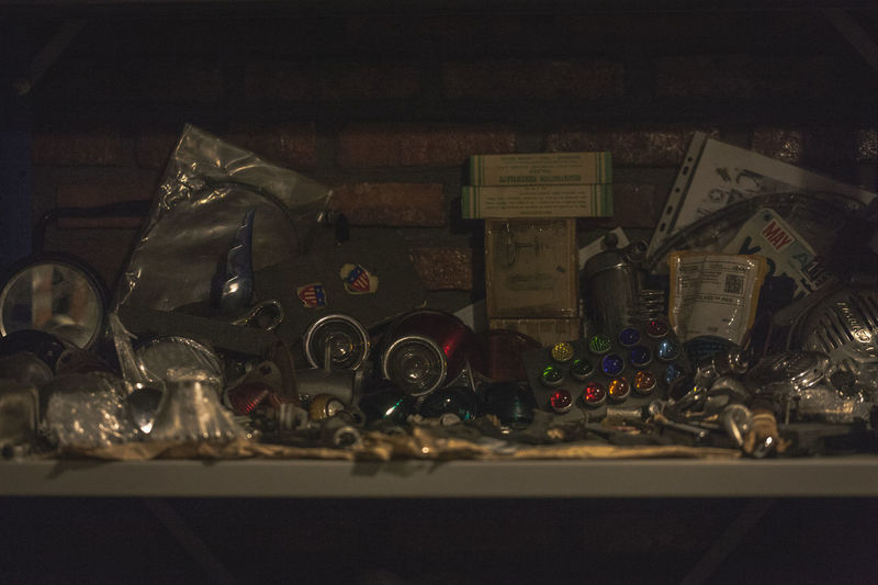 parts corner Motorcycle Parts Abundance Bottle Box Choice Close-up Collection Container Gearbox Glass - Material High Angle View Indoors  Large Group Of Objects Messy Multi Colored Night No People Parts Plastic Bag Selective Focus Still Life Table Text Variation