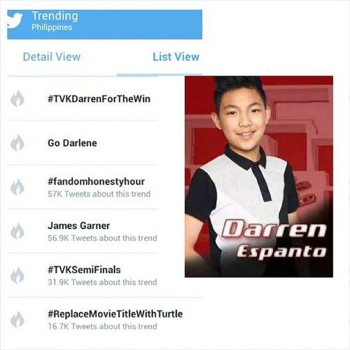 Go Darren TVKSemiFinals Darren  TVKDarrenForFinal