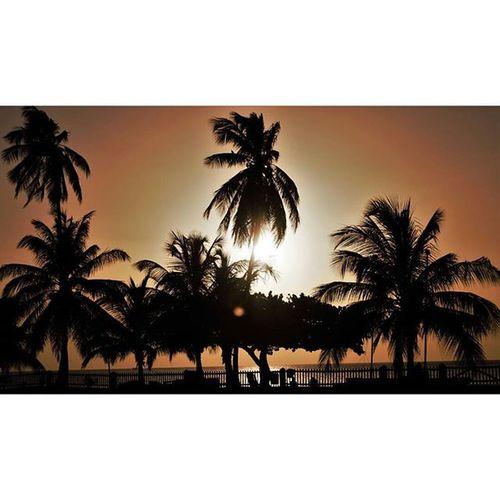 The setting sun will always rise again 🌴☀ GrandAnseBeach Sunset Paradise Grenada