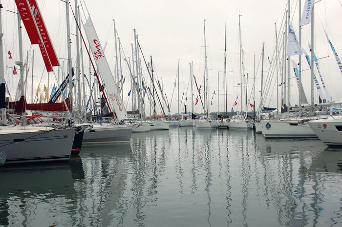 Amazing Boat Boats Boatshow Day England Flags In The Wind  Harbor Nature Nautical Vessel No People Nobody Outdoors Outside Reflection Sky Southhampton Traveling Uk View Water Water Reflections Weather
