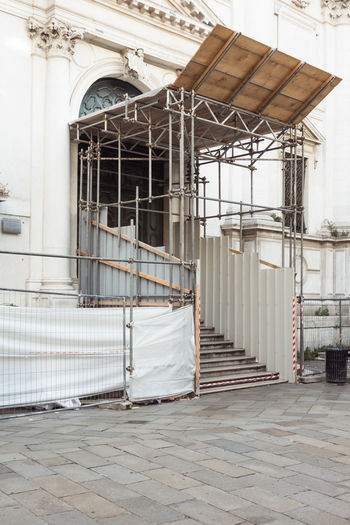 Abandoned Arch Architecture Building Building Exterior Built Structure City Closed Day Door Entrance Flooring Footpath Metal No People Outdoors Staircase Street Venice Wall Window