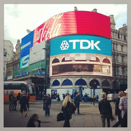 London Picadilly Circus Daytrip TDK cola samsung people instagood instadaily instatrip photooftheday photochallenge city england