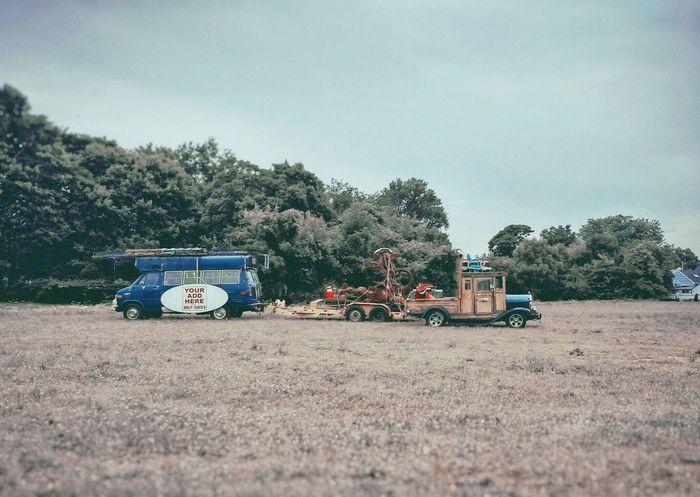 Trucks Vintage Historical Car Advertising Grass Alien Monster Long Island Trees