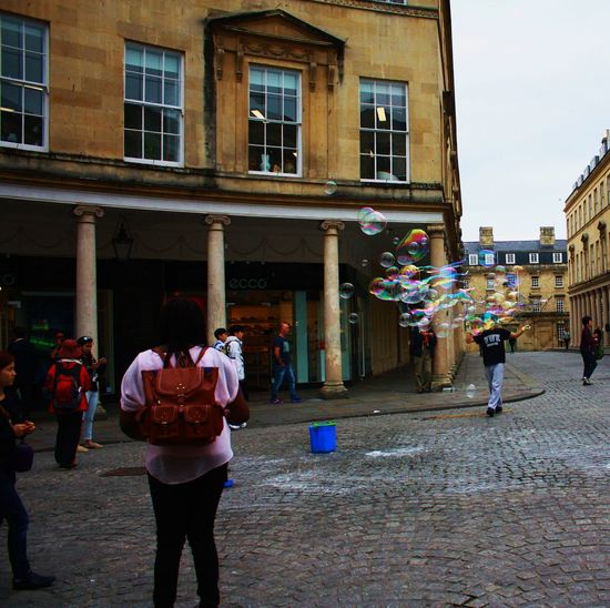 Bubbles on the streets of Bath, England Bath England Big Kids Bubbles Streetphotography Tourist Attraction  Street Act Street Photography Street Entertainment Street Entertainer