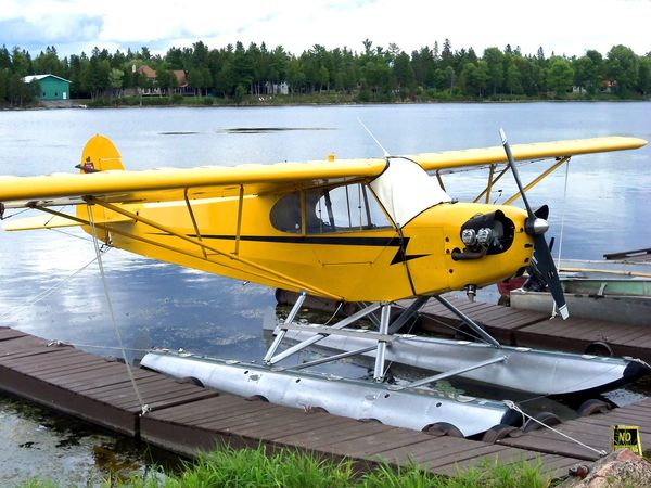 Aviation Aviation Photography Bush Pilots Bush Plane Day Float Plane Mode Of Transport Nature No People Outdoors Pontoons Single Engine Plane Sky Transportation Water Wilderness Yellow