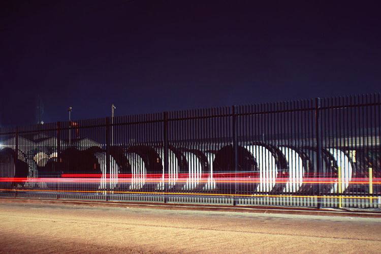 Motion Blur Night Photography Architecture Built Structure Cables And Wires City Illuminated Mode Of Transport Night Public Utilities Transportation Wire Spool