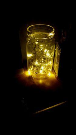 Fairylights Lights Jar DIY Night Dark Beautiful