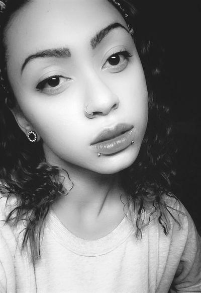 That's Me Selfie Pierced Plugs Pierced Girl Lookatmenow Asian Girl Piercings Blackandwhite Faces Of EyeEm