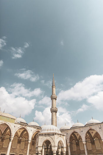 Blue Mosque, Istanbul Istanbul Turkey Blue Mosque Architecture Built Structure Building Exterior Sky Building Cloud - Sky Place Of Worship Religion Belief Low Angle View Nature No People Spirituality City Travel Travel Destinations Day Arch Outdoors Location Spire  Place