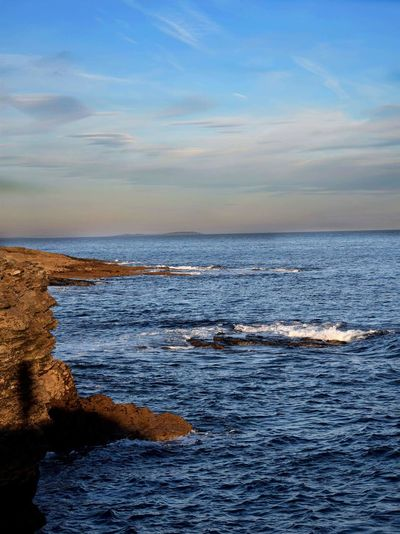 Sea Horizon Over Water Scenics Water Beauty In Nature Tranquility Nature Tranquil Scene Outdoors No People Day Sky Travel Destinations Wave Hook Head, Ireland Rocks And Water Movement Beautiful Weathered Colours Blue