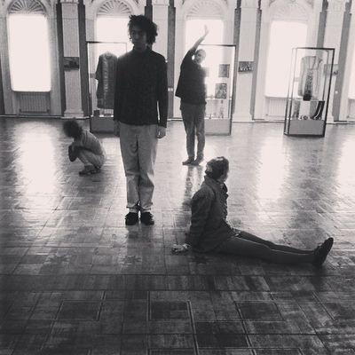 preparing to the Play Theatre Museum Chişinău Moldova