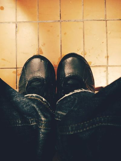 Sit down Low Section Standing Human Leg Shoe Men Business Finance And Industry Human Foot Close-up Shoelace Menswear