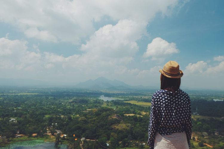 Rear View Cloud - Sky Outdoors One Person Scenics Landscape See The World Through My Eyes Colour Of Life Hello World Vacations Sri Lanka Memories Travel Sirigaya Rock It's Me