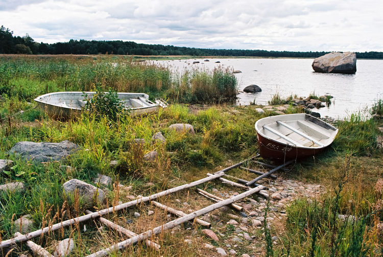 Boats on dry