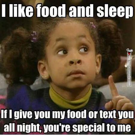I Like You. Food Sleep Joke ;-)