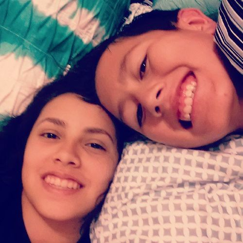 My lil brother and I:) aka my nephew lol Isaac Lovehim Wetired Goodnight