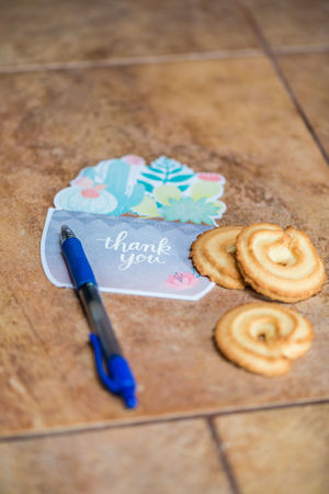 A thank you card and cookies on a counter Cookies Cookies🍪 Food And Drink Holiday Holidays Thank You Thank You Note Close-up Day Food Food And Drink Freshness High Angle View Indoors  Love No People Pen Seasonal Selective Focus Special Occasion Stationary Still Life Sweet Food Text Thank You Card