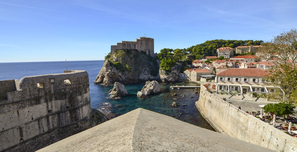 Magnificent Dubrovnik Croatia Dubrovnik Old Town Game Of Thrones King's Landing Turquoise Colored Adriatic Sea Architecture Blackwater Bay Built Structure Day Dubrovnik Dubrovnik City Walls Fortress By The Sea Game Of Thrones Location Historical Fortress History Kingslanding No People Red Keep Sea Fortress