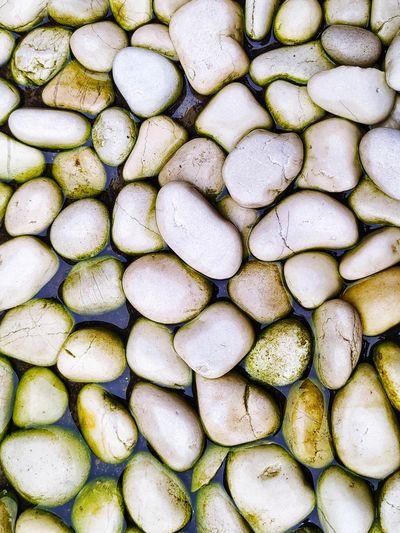 Beautiful white stone mossy