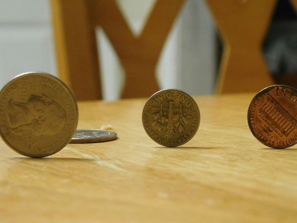 Coin Table Close-up No People Wood - Material Indoors  Majic Macro Focus On Foreground
