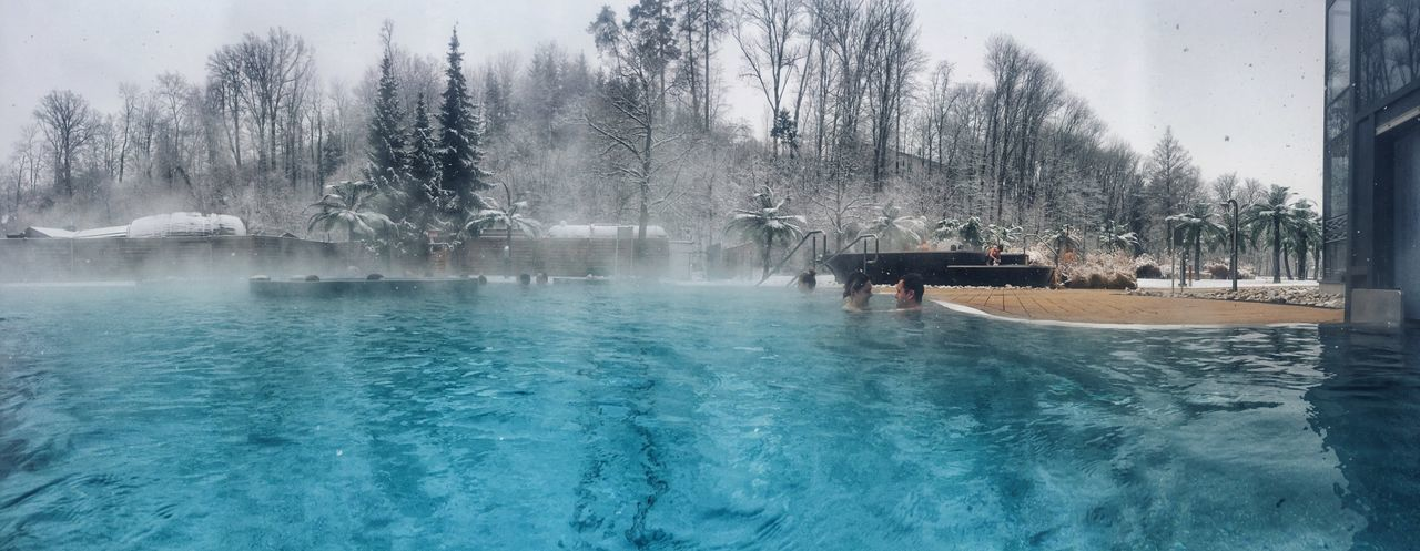 IPhoneography Panoramic Water Swimming Pool Tree Leisure Activity Day Water Park Enjoyment Outdoors Beauty In Nature