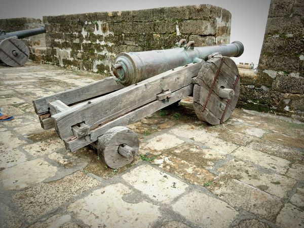 Metal Day History Outdoors No People Military Weapon War Nature Canon Indianhistory India Sea Port Portugal