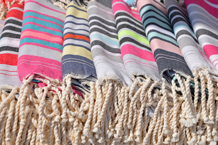 Assortment of fabric textile blankets, background, close up Decor Fabric Texture Textile Industry Textiles Art And Craft Assortment Backgrounds Blancket Blanket Choice Close-up Cover Craft Cuttings Fabric Large Group Of Objects Multi Colored Pattern Striped Textile Variation Wool