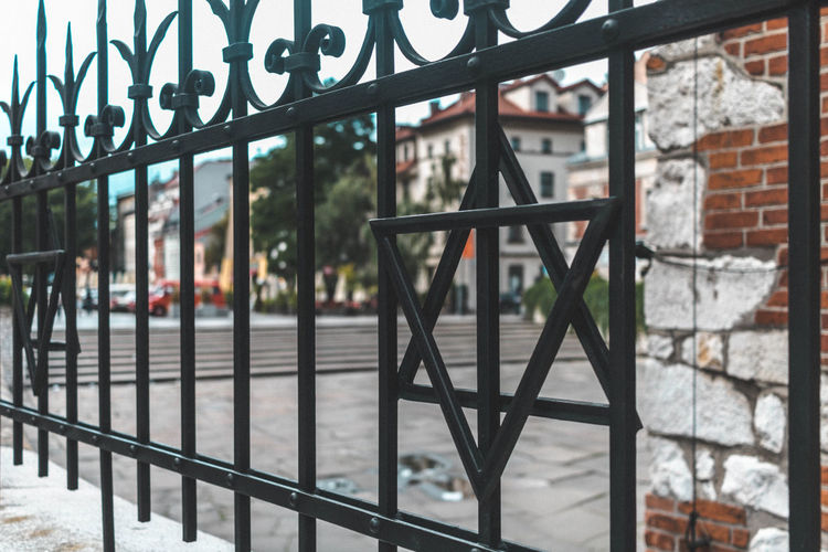 Jewish synagogue in Kazimierz Star Of David Metal Fence Streetphotography Leading Lines Perspective Cool Places Urban Exploration Taking Photos Synagogue Architecture_collection Architectural Feature Showcase July Street Photography Church Churches Wall - Building Feature Exploring Travel Photography First Eyeem Photo Hidden Gems