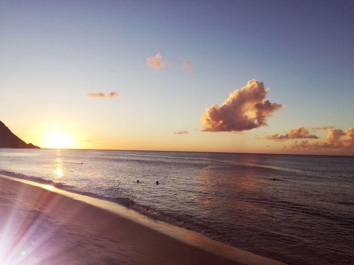Sunset Beach Sea Sun Scenics Sand Summer