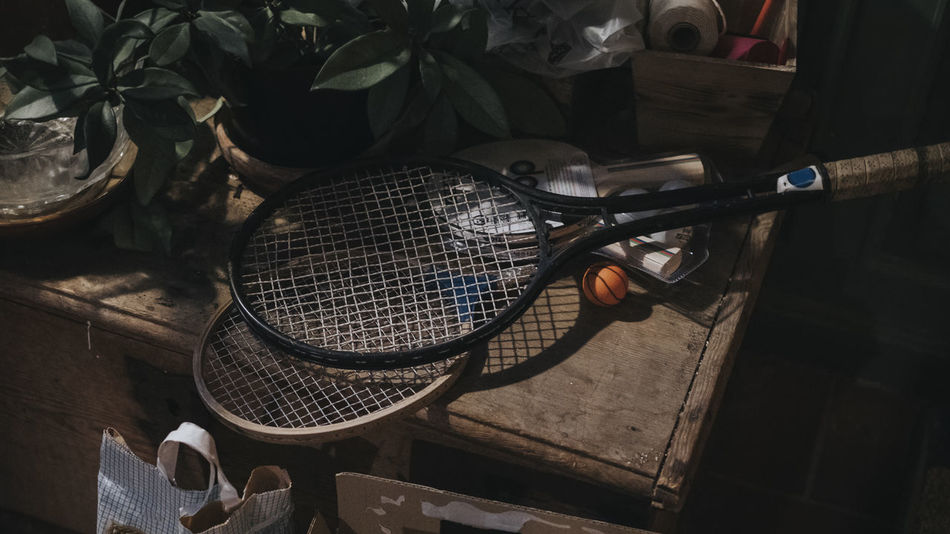 Retro Ball Indoors  No People Preparation  Racket Sport Summer