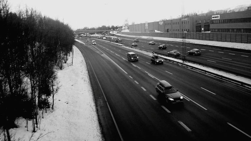 Traffic Motorway E6 Morning