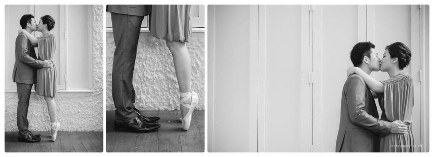 Blackandwhite Black And White Portrait Dance With Me - Prewedding By KM
