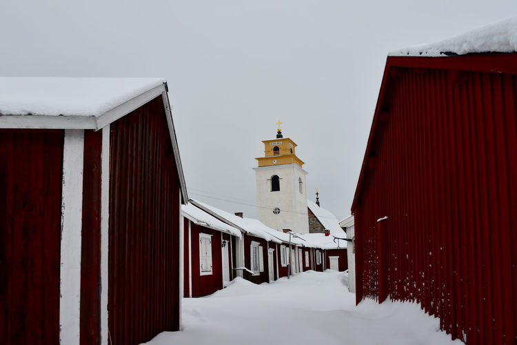 Architecture Building Exterior Built Structure Church Village Cold Temperature Day Nature No People Outdoors Sky Snow Village Winter