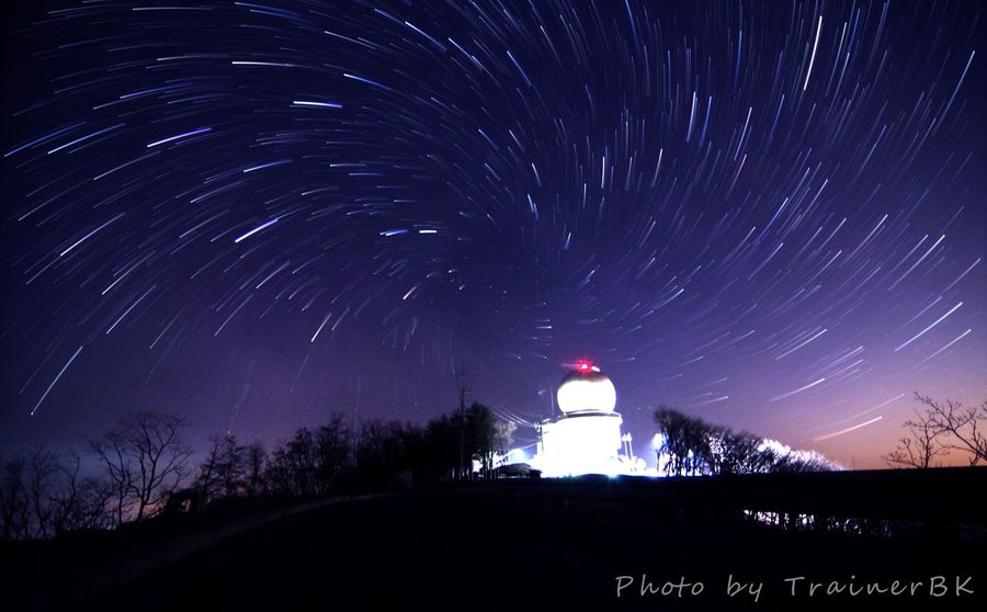 Architecture Astronomy Astronomy Telescope Building Exterior Illuminated Landscape Lighthouse Long Exposure Nature Night No People Outdoors Red Scenics Sky Space Star - Space Star Trail