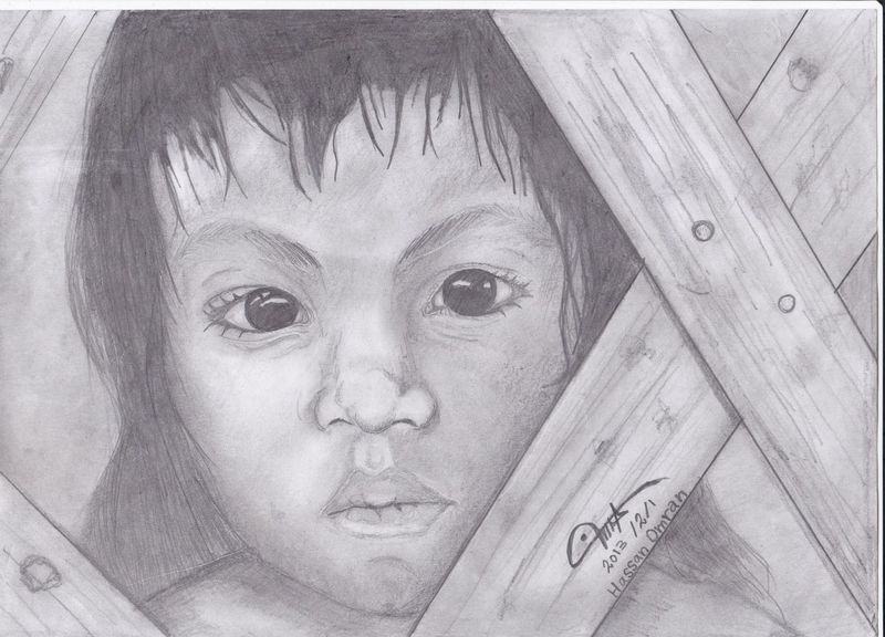 Lonely !! Drawing My Draw Pencil Drawing