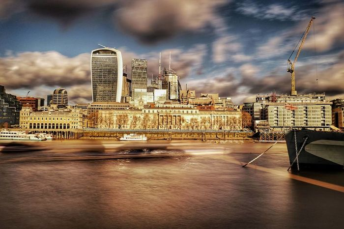 across the Thames to the City Nd ND Filter Long Exposure Leicacamera Landscape Photography Photographer Architecture Cityscape Skyscraper City Business Finance And Industry Urban Skyline Cloud - Sky Modern Building Exterior Travel Destinations City Life