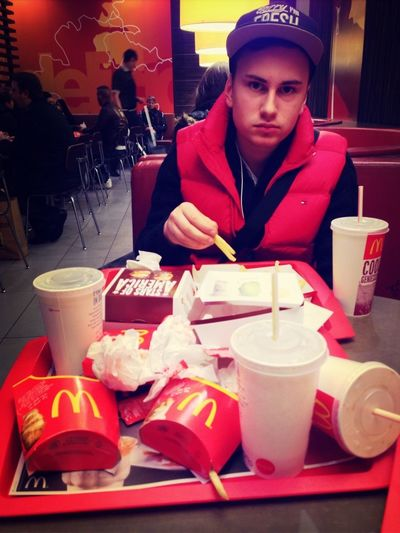 At Mc Donalds