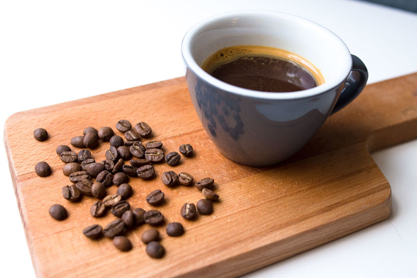 coffee mornings Brown Close-up Coffee - Drink Coffee Bean Coffee Beans Coffee Cup Cup Day Drink Food Food And Drink Freshness High Angle View Indoors  No People Raw Coffee Bean Refreshment Roasted Roasted Coffee Bean Still Life Table White Background