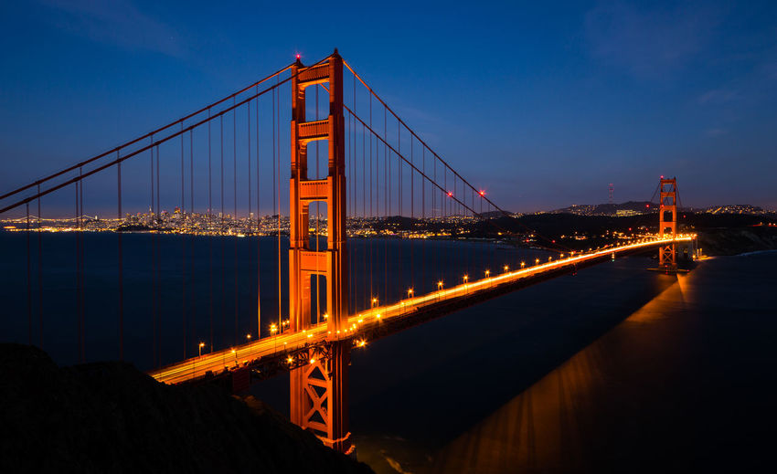 Architecture Bridge Development Dusk Famous Place Golden Gate Bridge International Landmark River San Francisco Suspension Bridge
