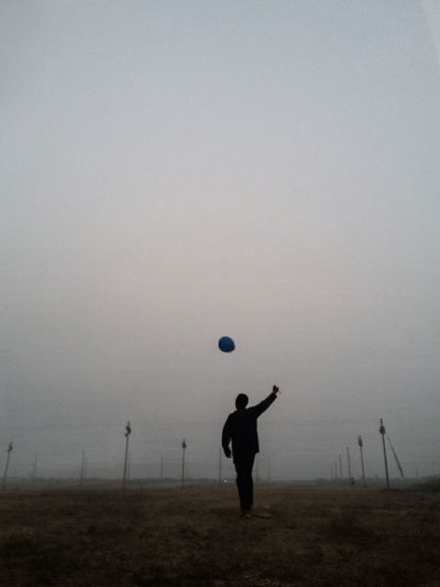 Balloon. 2015. Fine Art Photography Fine Art Portrait Self Portrait Field Free One Person Outdoors Sky One Man Only