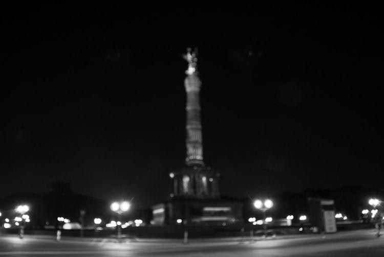 Festival Of Lights 2015 Siegessäule  Schwarzweiß Blackandwhite Discover Berlin