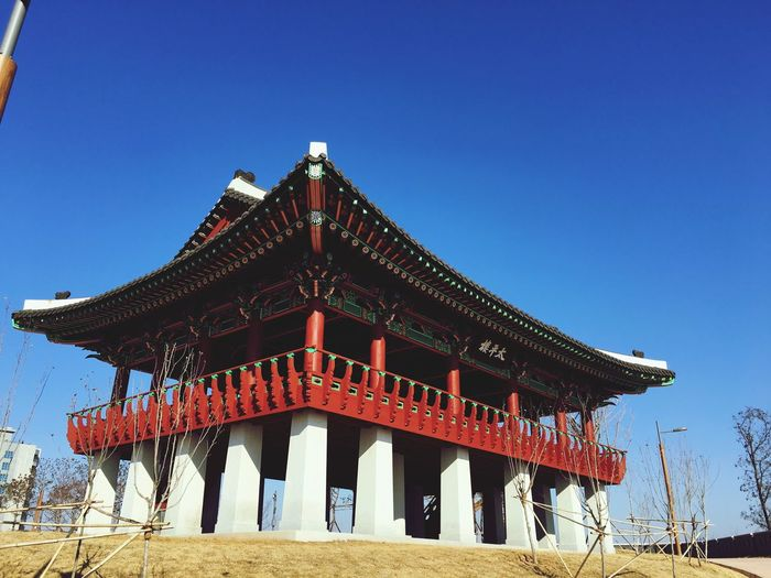 Incheon Yeoungjong Island Sky Architecture Built Structure Clear Sky Roof Building Exterior Blue Building