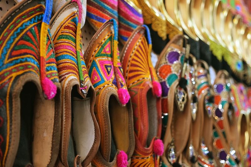 Live Love Shop Leather Craft Shoes Handmade Shoes Traditional Market Jootis Thread Work Rajasthani Culture Color Of Life EyeEm Gallery Desert Jewel Along The Road Eyeem Still Life Eyeem Market Rajasthan
