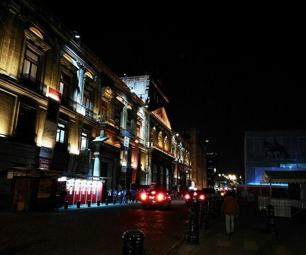 Night City Illuminated Travel Destinations Architecture Outdoors Photography Art CDMX.